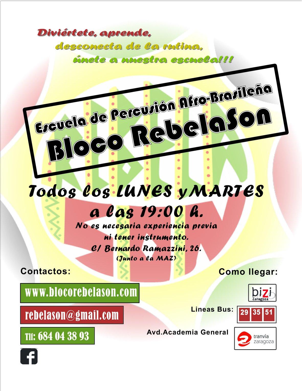 Cartel Escuela RebelaSon 2017
