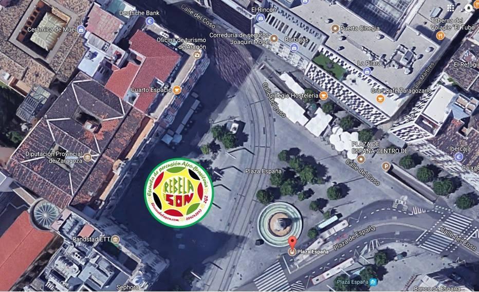 ubicacion de rebelaon en las fiestas del pilar 2017 en paza españa junto a la diputacion